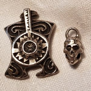 Jewelry - Tribal Pendant and Skull Sterling Silver